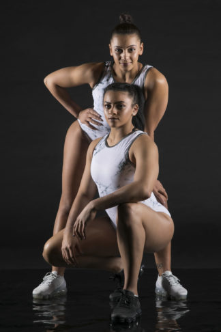 Marble White Leotard Double Downies