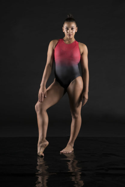Passion Red Leotard Double Downies