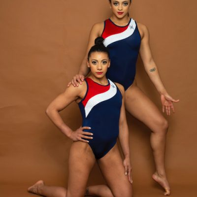 Retro Leotard Double Downies Gymnastics