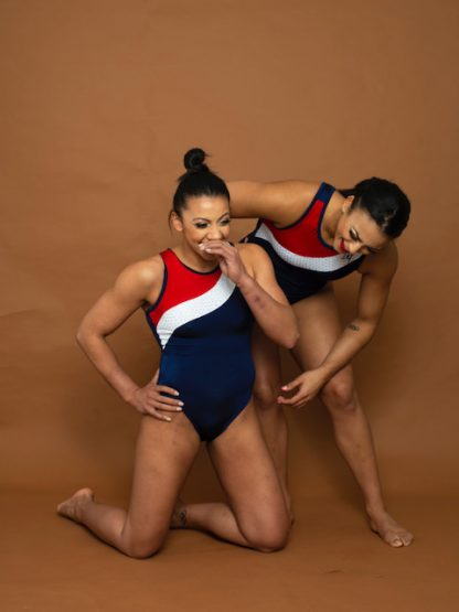 Retro Leotard Double Downies Gymnastics